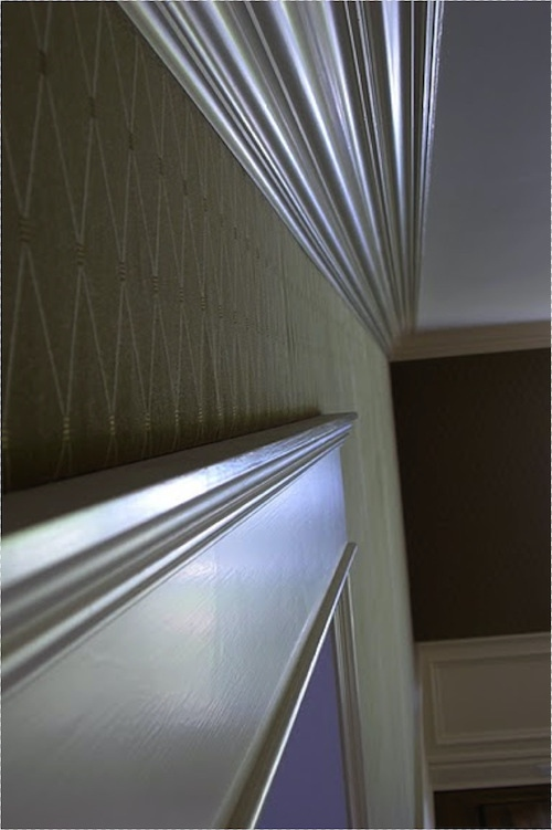 clean edge fabric finish above a door