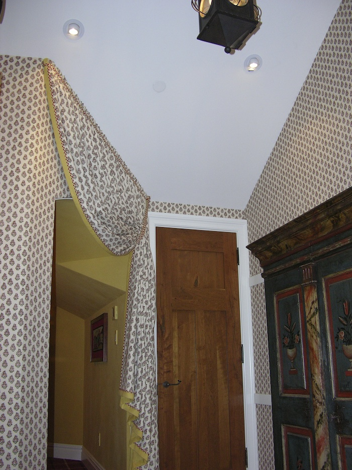 fabric on walls installed by vethoman